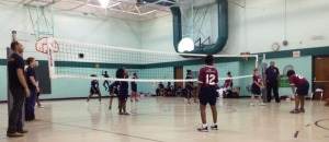 The DIG it! girls on the court getting ready for the next big play.