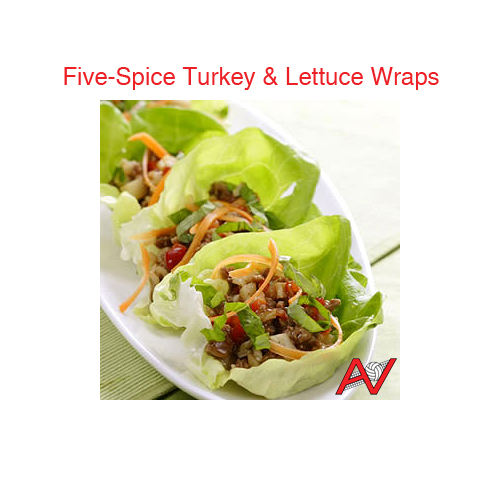 Five-Spice Turkey and Lettuce Wraps
