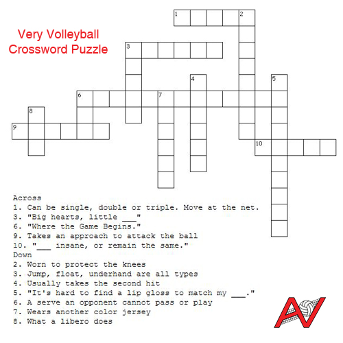 A Very Volleyball Crossword Puzzle!
